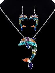 economico -Per donna Parure di gioielli - Delfino Etnico, Colorato Includere Arcobaleno Per Serata / Bar