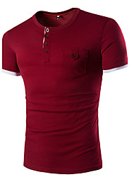 cheap -Men's Active T-shirt - Solid Colored