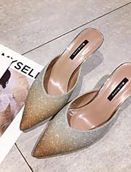 お買い得  -女性用 靴 スパンコール 春 秋 コンフォートシューズ 下駄とミュール スティレットヒール のために カジュアル ゴールド シルバー