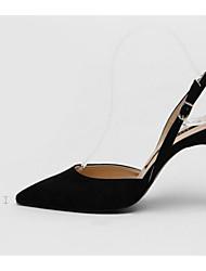 preiswerte -Damen Schuhe Nubukleder Frühling Herbst Pumps Komfort High Heels Stöckelabsatz für Schwarz Grau Hautfarben