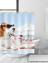 abordables -Rideaux de douche et anneaux Moderne Polyester Moderne Animal Fabrication à la machine Imperméable Salle de Bain