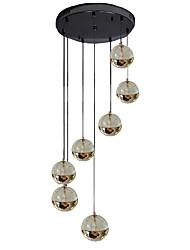 Недорогие -QIHengZhaoMing 7-Light Подвесные лампы Рассеянное освещение - Защите для глаз, 110-120Вольт / 220-240Вольт, Теплый белый, Лампочки / G4