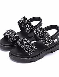 Недорогие -Девочки Обувь Дерматин Лето Детская праздничная обувь Сандалии для Дети Белый / Черный / Розовый