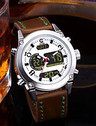 baratos -Homens Casal Relógio Casual Relógio de Moda Relógio Elegante Japanês Quartzo Marrom 30 m Impermeável Calendário Cronógrafo Analógico-Digital Luxo Fashion - Branco Vermelho Azul / Noctilucente