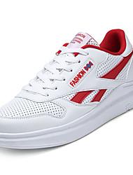 billige -Herre Sko Tyl Forår Efterår Komfort Sneakers for Afslappet Hvid Sort Rød