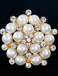 cheap -Women's Brooches - Pearl Simple, European, Fashion Brooch Gold / Silver For Wedding / Daily