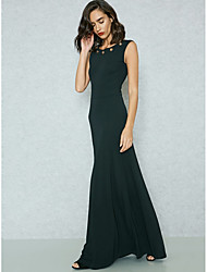 cheap -Women's Sophisticated Street chic Bodycon Sheath Swing Dress - Solid Colored, Backless