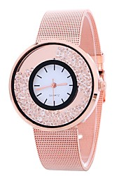 cheap -Women's Fashion Watch Quartz Creative Large Dial Alloy Band Analog Casual Silver / Gold / Rose Gold - Gold Silver Rose Gold One Year Battery Life