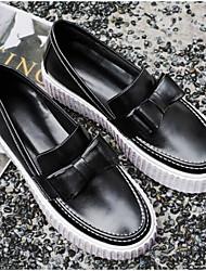 povoljno -Žene Cipele Koža Mekana koža Proljeće Jesen Udobne cipele Natikače i mokasinke Niska potpetica za Kauzalni Crn Lila-roza