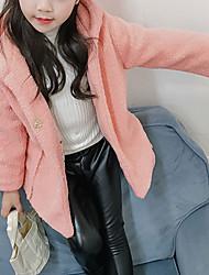 preiswerte -Mädchen Jacke & Mantel Solide Andere Langarm Rote Rosa