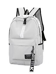 preiswerte -Damen Taschen Segeltuch Rucksack Reißverschluss für Reisen Winter Rosa Grau Gelb Fuchsia Schwarz/weiss