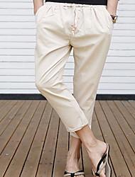 abordables -Hombre Básico Pantalones Harén Pantalones - Un Color
