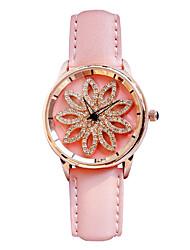 baratos -Mulheres Relógio Elegante Japanês Cronógrafo / Criativo / Luminoso Couro Legitimo Banda Luxo Preta / Vermelho / Marrom / Aço Inoxidável / Dois anos / Sony SR626SW
