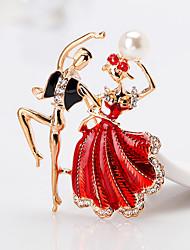 cheap -Women's Brooches - Princess Cartoon, European, Fashion Brooch Red / Blue For Gift / Daily