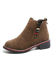 preiswerte -Damen Schuhe Gummi Winter Schneestiefel Stiefel Runde Zehe für Draussen Schwarz Rot Kamel
