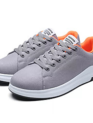 cheap -Women's Shoes Fabric Spring / Fall Comfort Sneakers Low Heel Round Toe Black / Gray