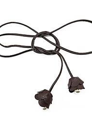 cheap -Women's Cute Imitation Pearl Leather Alloy Skinny Belt Layered