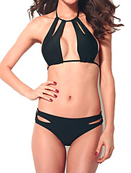 cheap -Women's Bikini - Solid Colored Backless Cheeky