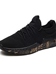 abordables -Homme Chaussures Polyuréthane Printemps / Automne Confort Chaussures d'Athlétisme Marche Gris / Noir et Or / Noir / blanc