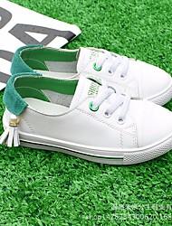 billige -Pige Drenge Sko Læder Forår Komfort Sneakers for Afslappet Grøn Blå Lys pink