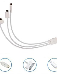 billige -Kinston 3 i 1 spores usb-kabel til Nokia / iphone 3gs/4/4s/ipad 2/3/samsung/htc/sony/lg mobil