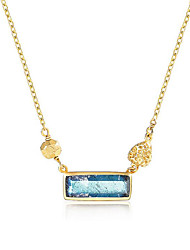 cheap -Women's S925 Sterling Silver 18K Gold Plated Pendant Necklace - Vintage Elegant Geometric Necklace For Gift Daily