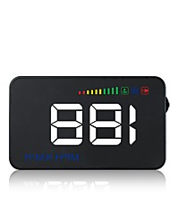 cheap -A500 3.5 inch LED Head Up Display LED indicator Brightness adjustment Multi-functional display LCD Screen Plug and play for Truck Bus Car