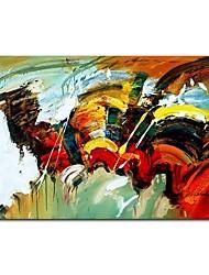 Недорогие -styledecor® современная ручная роспись абстрактная цветная картина холст масляной живописи настенное искусство на обернутом холсте