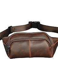 cheap -Unisex Bags PU Sling Shoulder Bag Zipper for Casual Coffee