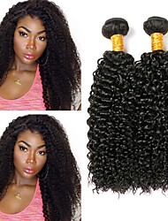 cheap -Peruvian Hair Curly Human Hair Weaves 50g x 3 Extention Human Hair Extensions All Christmas Gifts Christmas Wedding Party Special