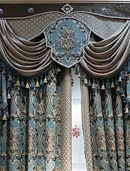 preiswerte -Vorhänge drapiert Wohnzimmer Zeitgenössisch Baumwolle / Polyester Stickerei