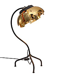 cheap -Contemporary Artistic Decorative Table Lamp For Metal 110-120V 220-240V Gold Black