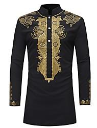economico -Camicia Per uomo Essenziale Con stampe,Fantasia geometrica