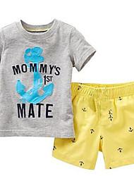 povoljno -Dječaci Jednobojni Kratkih rukava Kratke hlače