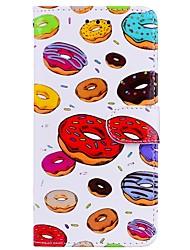 Недорогие -Кейс для Назначение Huawei P10 Lite P9 Lite Бумажник для карт Кошелек со стендом Флип С узором Чехол Продукты питания Твердый Кожа PU для