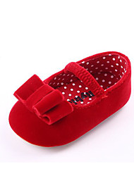 cheap -Girls' Shoes Fleece Spring Fall First Walkers Flats for Casual Red