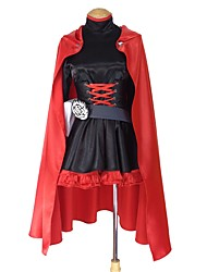 cheap -Inspired by RWBY Ruby Rose Anime Cosplay Costumes Cosplay Suits Other Long Sleeve Dress / Cloak / More Accessories For Men's / Women's Halloween Costumes