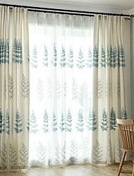 cheap -Sheer Curtains Shades Bedroom Cartoon Cotton / Polyester Printed