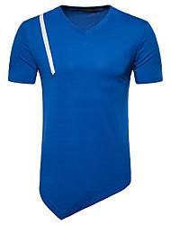 baratos -Homens Camiseta Moda de Rua Estampa Colorida
