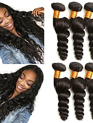 Недорогие -Бразильские волосы Свободные волны Необработанные / Не подвергавшиеся окрашиванию Удлинитель / Распродажа брендовых товаров Ткет