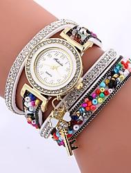 Недорогие -Жен. Кварцевый Часы-браслет Китайский Повседневные часы PU Группа На каждый день минималист Черный Белый Синий Красный Коричневый Зеленый