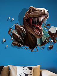 Недорогие -Декоративные наклейки на стены - Наклейки для животных Животные 3D Гостиная Спальня Ванная комната Кухня Столовая Кабинет / Офис