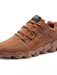 abordables -Homme Chaussures Daim Printemps Eté Confort Chaussures d'Athlétisme Basketball pour Athlétique Noir Gris Marron