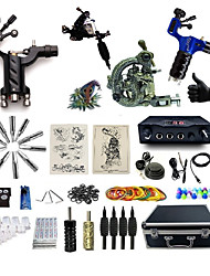 cheap -ShiFei Tattoo Machine Professional Tattoo Kit 3 rotary machine liner & shader 1 alloy machine liner & shader High Quality 2 x aluminum