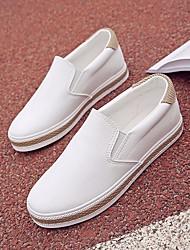 povoljno -Žene Cipele Sintetika, mikrofibra, PU Proljeće Jesen Udobne cipele Natikače i mokasinke Niska potpetica za Kauzalni Obala Crn