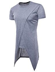 baratos -Homens Camiseta Temática Asiática Sólido
