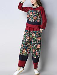 povoljno -Žene Majica - Cvjetni print Hlače