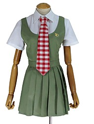 cheap -Inspired by Dangan Ronpa Cosplay Anime Cosplay Costumes Cosplay Suits Other Short Sleeves Shirt Dress Tie For Unisex