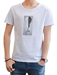povoljno -Majica s rukavima Muškarci - Ulični šik Dnevno Vikend Jednobojni Print