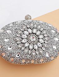 preiswerte -Damen Taschen Abendtasche Kristall Verzierung für Hochzeit Veranstaltung / Fest Ganzjährig Blau Gold Schwarz Silber Rote